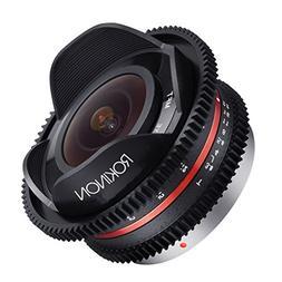 Rokinon CV75MFT-B 7.5mm T3.8 Cine Fisheye Lens for Olympus/P