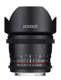 Rokinon Cine CV10M-N 10mm T3.1 Cine Wide Angle Lens for Niko