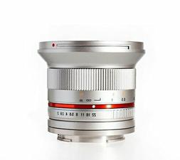 Rokinon RK12M-E-SIL 12mm F2.0 Ultra Wide Angle Fixed Lens fo