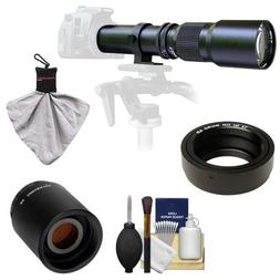 Samyang 500mm f/8.0 Telephoto Lens with 2x Teleconverter  fo