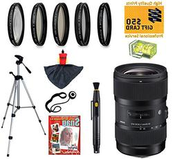 Sigma 18-35mm F1.8 DC HSM ART Lens with UV, CPL, FLD, ND4,+1