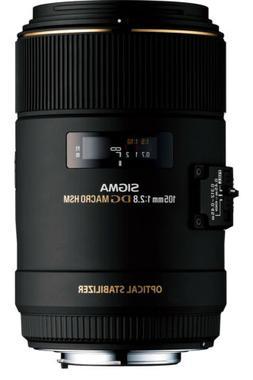 Sigma 105mm f/2.8 EX DG OS HSM Macro Lens for Nikon AF Camer
