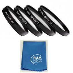 Vivitar +1 +2 +4 +10 Close-Up Macro Filter Set with Pouch