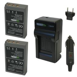Wasabi Power Battery  and Charger for Olympus BLS-5, BLS-50,