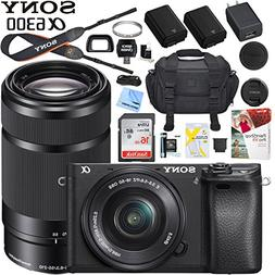 Sony a6300 4K Mirrorless Camera ILCE-6300L/B with 16-50mm &