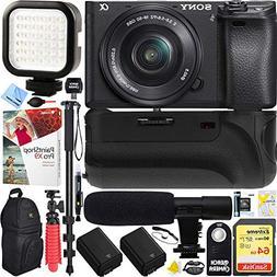 Sony a6300 4K Mirrorless Camera w/ 16-50mm Lens Battery Grip
