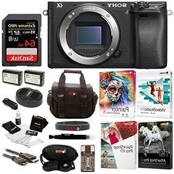 Sony a6300 Mirrorless Digital Camera Body with 64GB SD Card