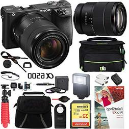 Sony ILCE-6500M/B a6500 4K Mirrorless Camera  with 18-135mm