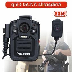BOBLOV A7 1296P HD Police Body Camera Worn w/ 64GB Storage M