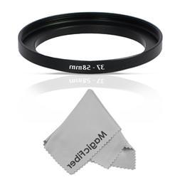 Goja 37-58MM Step-Up Adapter Ring  + Premium MagicFiber Micr