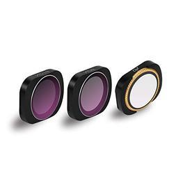 Sunnylife Adjustable CPL ND8 ND16 Lens Filter Set for DJI OS