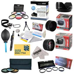 25 Piece Advanced Lens Package For The Nikon D7100 D7000 D50