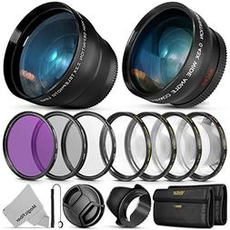 55MM Vivitar Essential Lens & Filter Accessory Kit for Nikon