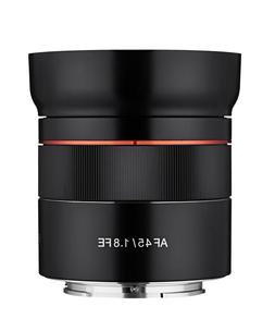 Rokinon AF 45mm f/1.8 Compact Auto Focus FE Lens for Sony E