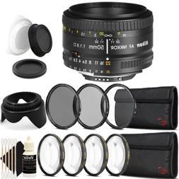 Nikon AF FX NIKKOR 50mm f/1.8D Lens for Nikon DSLR Cameras w