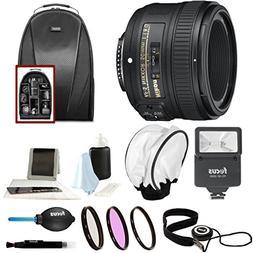 Nikon AF-S NIKKOR 50mm f/1.8G Lens + 58mm Filters + Backpack