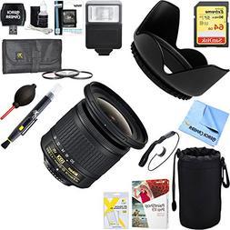 Nikon 20067 AF-P DX NIKKOR 10-20mm f/4.5-5.6G VR Lens + 64GB