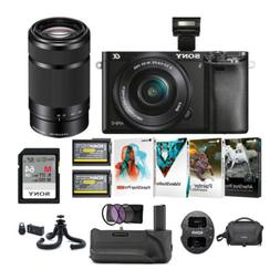 Sony Alpha a6000 24.3MP Mirrorless Camera with 16-50mm and 5