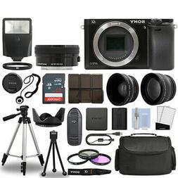 Sony Alpha a6000 Camera Body Black + 3 Lens Kit 16-50mm OSS+