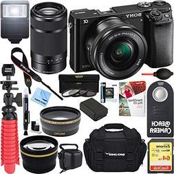 Sony Alpha a6000 24.3MP Mirrorless Camera 16-50mm & 55-210mm
