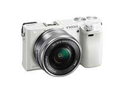 Sony Alpha a6000 White Interchangeable Lens Camera with E PZ