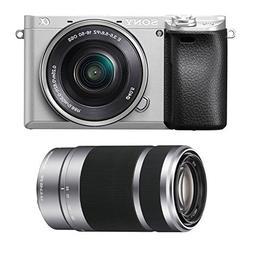 Sony Alpha a6300 Silver Mirrorless Digital Camera Lens Bundl