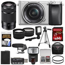 Sony Alpha A6300 4K Wi-Fi Digital Camera & 16-50mm  with 55-
