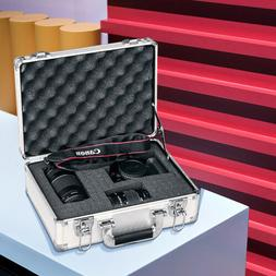 Aluminum Camera Lens Accessories Hard Case with DIY Pre-Scor