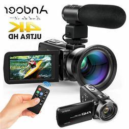 "Andoer 4K FHD LCD Digital Camera Camcorder 1080P 24MP 3.0"" R"