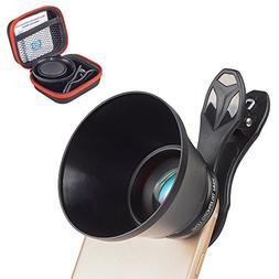 Apexel 85mm Portrait Lens, Professional HD Phone Camera Lens