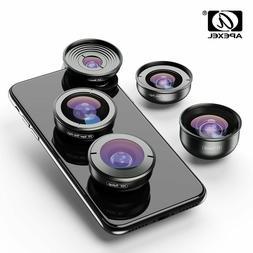 APEXEL HD 5 in 1 Camera Phone 4K Wide macro Telescope super