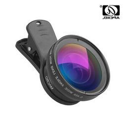 APEXEL APL-0.45WM Phone Lens Kit 0.45X Angle & 12.5X Macro L