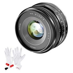 Neewer APS-C 35mm F/1.7 Manual Fixed Lens with Cleaning Kit