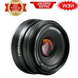 Lightdow 35mm F1.7-22 E-Mount APS-C Fixed Prime Lens for Son