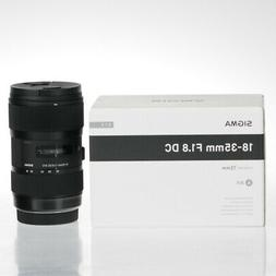 Sigma Art 18-35mm f/1.8 DC HSM Lens For Canon Mount