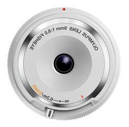 Olympus BCL-0980 9mm f/8.0 Fisheye Body Cap Lens - White