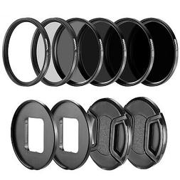 Neewer Camera Lens Filter Kit ND4 ND8 ND16 ND32 UV CPL for G