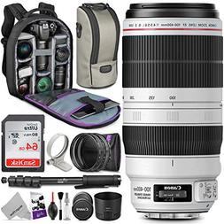 Canon EF 100 400mm f 4.5 5.6L IS II USM Lens w Essential Pho