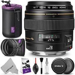 Canon EF 85mm f 1.8 USM Medium Telephoto Lens w Essential Bu