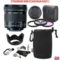 Canon EF-S 10-18mm f/4.5-5.6 is STM Lens + Ritz Gear 67mm 3