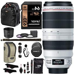 Canon EF 100-400mm f/4.5-5.6L is II USM Lens + Lexar 64GB +