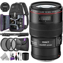 Canon EF 100mm f/2.8L is USM Macro Lens w/Advanced Photo and