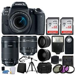 Canon EOS 77D DSLR Camera + Canon EF-S 18-55mm f/4-5.6 IS ST