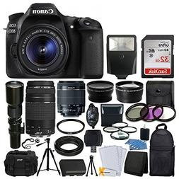 Canon EOS 80D DSLR Camera Body + Canon EF-S 18-55mm + Canon