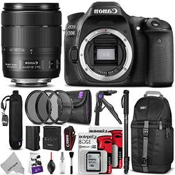 Canon EOS 80D DSLR Camera with EF-S 18-135mm f/3.5-5.6 IS US