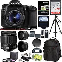 Canon EOS 80D Digital SLR Camera Kit EF-S 18-55mm Image Stab