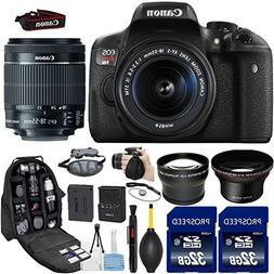 Canon EOS Rebel T6i DSLR Camera with 18-55mm IS STM Lens + K