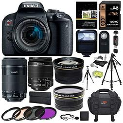 Canon EOS Rebel T7i EF-S 18-55 is STM Kit, EF 55-250mm II, 6