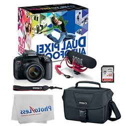 Canon EOS Rebel T7i Digital SLR Camera with 18-55mm Lens Vid