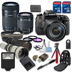 Canon EOS T6s DSLR Camera Bundle with Canon EF-S 18-55mm f/3